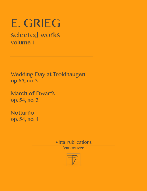 All Music Chords grieg wedding day at troldhaugen sheet music : Grieg, Selected Works, Volume 1 - Piano Sheet Music