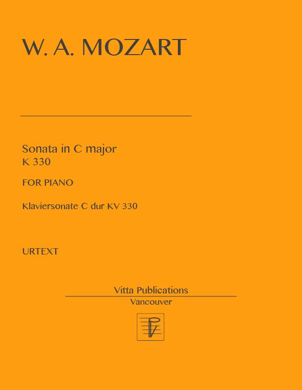 Mozart, Sonata in C majorK 330, URTEXT - Piano Sheet Music