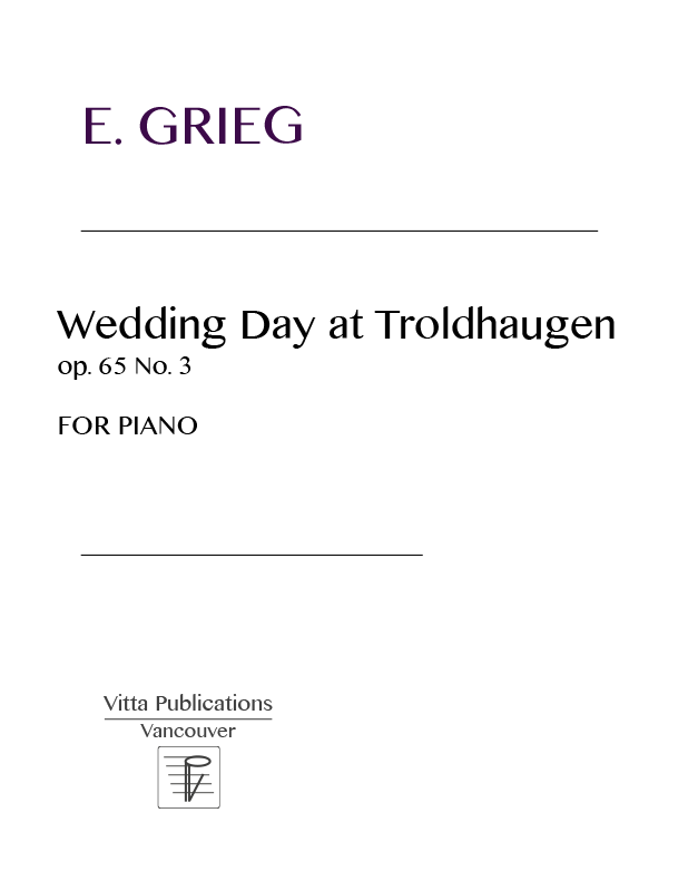 All Music Chords grieg wedding day at troldhaugen sheet music : Grieg, Wedding Day in Troldhaugen, op. 65 No. 3, 12 pages - Piano ...